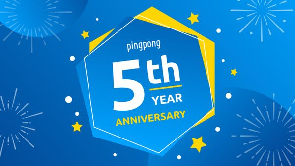 Five Facts About PingPong on our Fifth Birthday