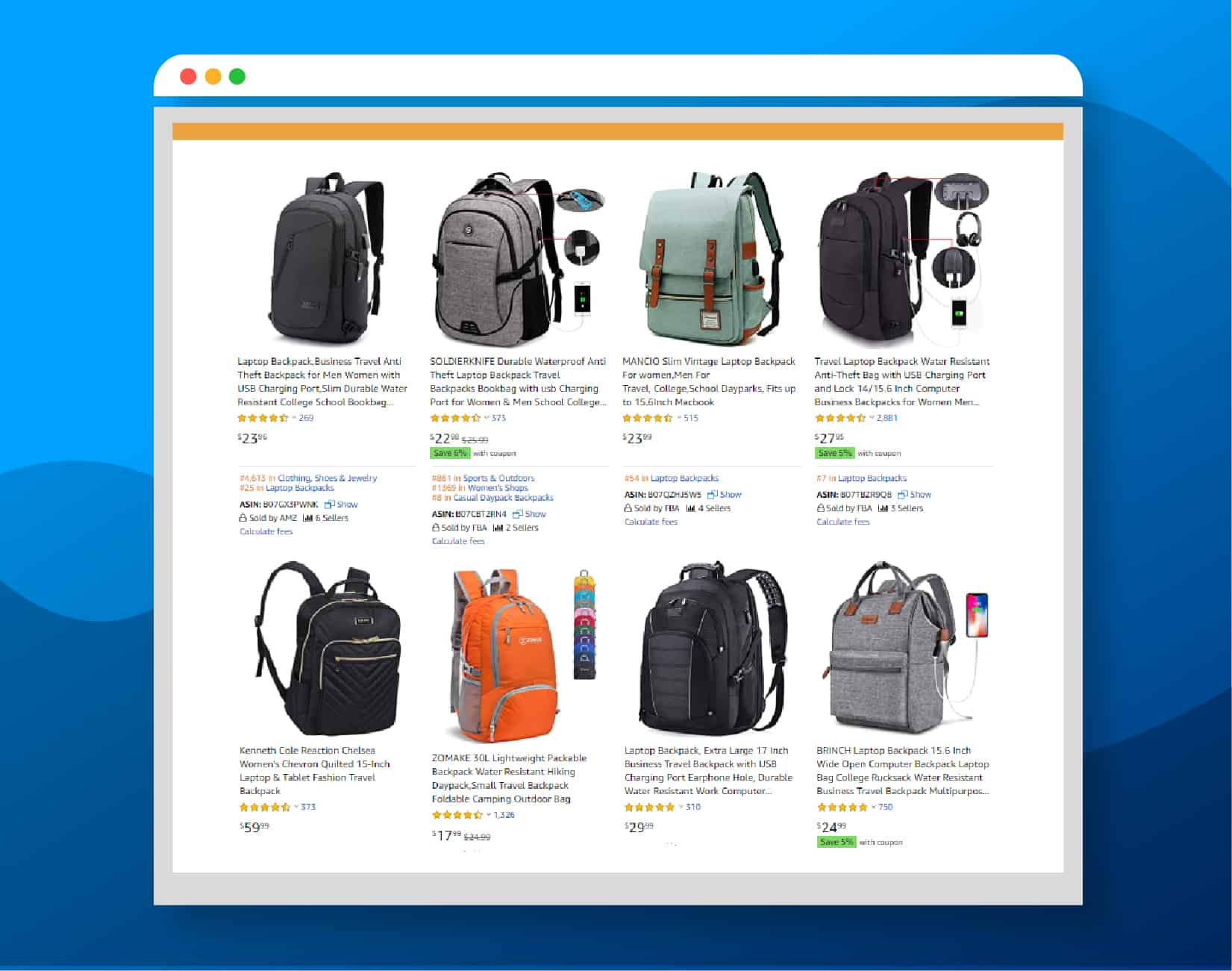 Amazon Screenshot Backpack