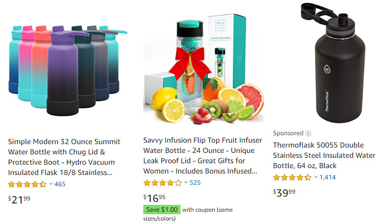 Amazon Water Bottles